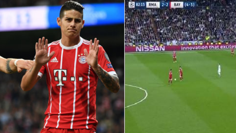 Real Madrid Fans Loved What James Rodriguez Did In The 83rd Minute