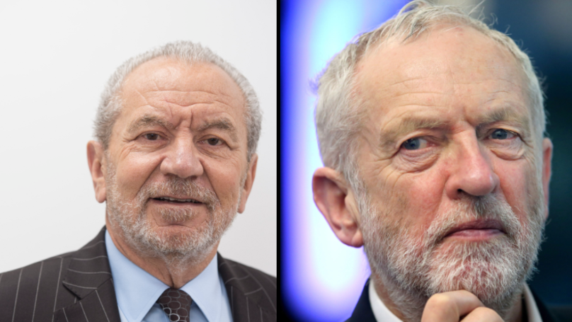 Lord Alan Sugar Caught Up In Twitter Storm After Tweeting Jeremy Corbyn Hitler Meme
