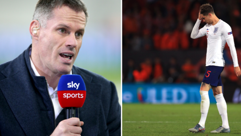 Jamie Carragher Rips Into John Stones For 'Stupid' Mistakes Against Netherlands