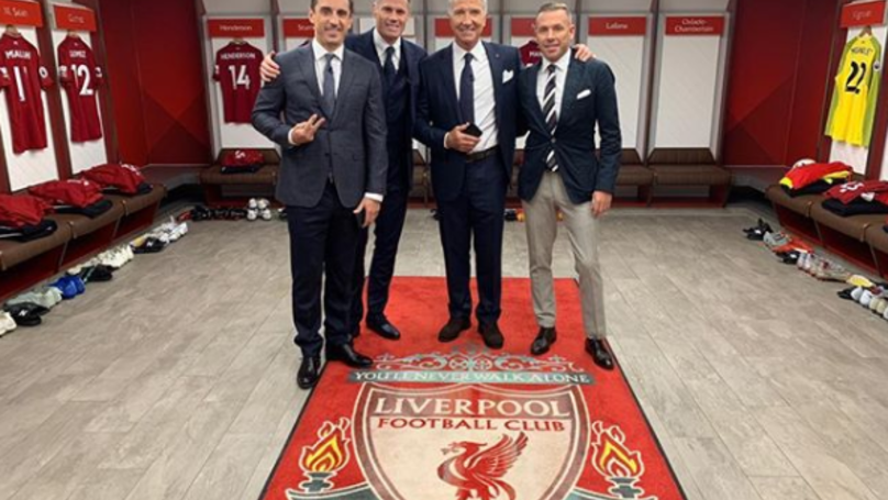 Gary Neville Hilariously Trolls Former Liverpool Players In The Reds' Dressing Room