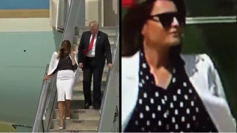 Conspiracy Theorists Think Footage Proves Melania Trump Has Body Double