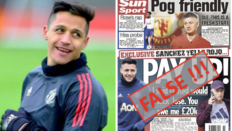 Alexis Sánchez Slams Report Claiming He Made £20k Bet On José Mourinho's Sacking