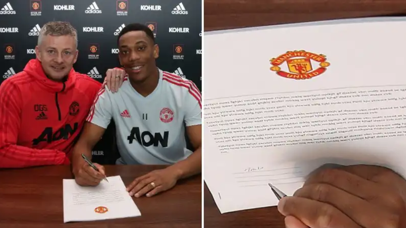 Manchester United Fan Spots Strange Thing About Anthony Martial Contract