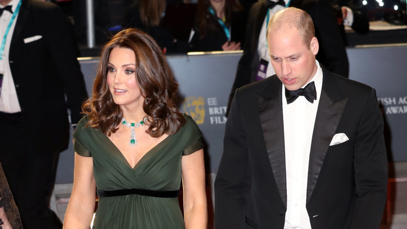 Fans Disappointed After Kate Middleton Wears Green Gown At BAFTAs