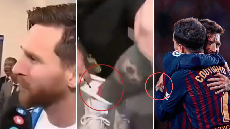 Lionel Messi Gave His World Cup Lucky Charm To Philippe Coutinho