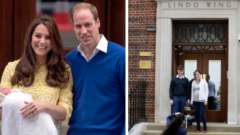 Couple Have World's Media On Doorstep After Having Baby At Kate Middleton Hospital