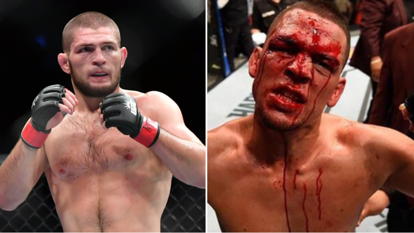 Khabib Fires Back At Nate Diaz For Defending Conor McGregor In Twitter Beef
