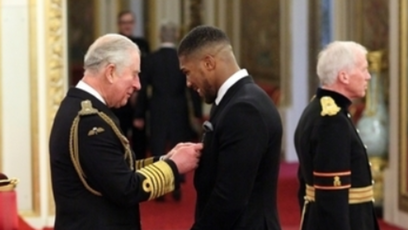 Anthony Joshua Has Been Awarded An OBE By Prince Charles Today