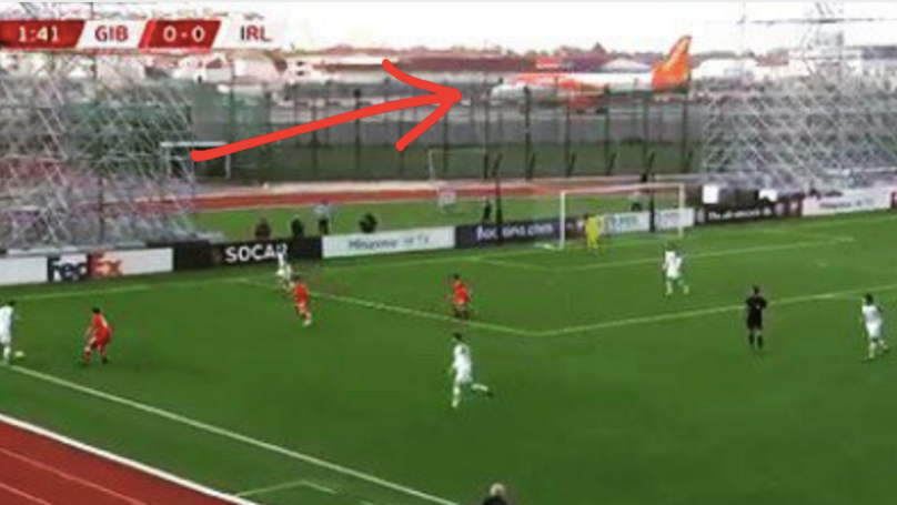 The Moment Easy Jet Plane Takes Off During Gibraltar Against Ireland
