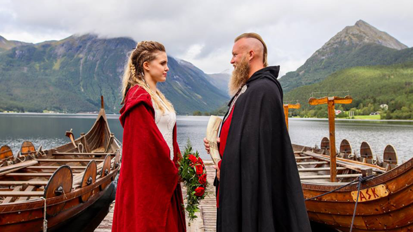 Couple Have Traditional Viking Wedding Which Included A