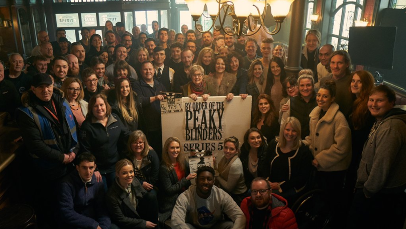 ​Peaky Blinders Cast And Crew Mark Season Five Wrapping With Group Photo