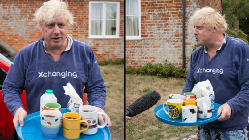 Boris Johnson Avoids Questions About Burkas By Offering People Cups Of Tea