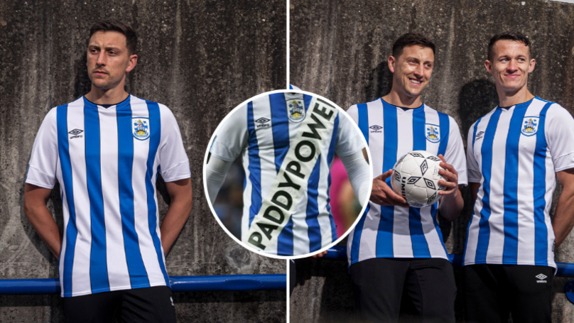 Paddy Power Reveal Real Huddersfield Shirt With No Logo On It At All