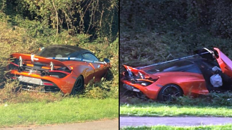 £250k McLaren Found Completely Written-Off In Bush On Dual Carriageway