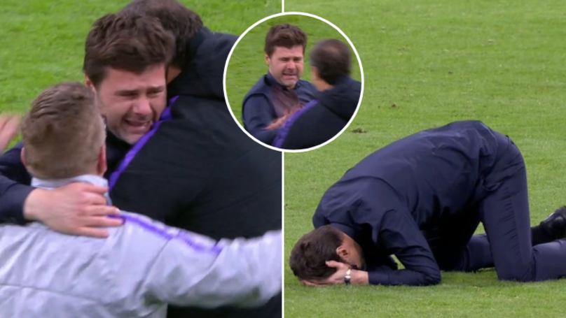 Mauricio Pochettino Couldn't Stop Crying Tears Of Joy After Incredible Comeback