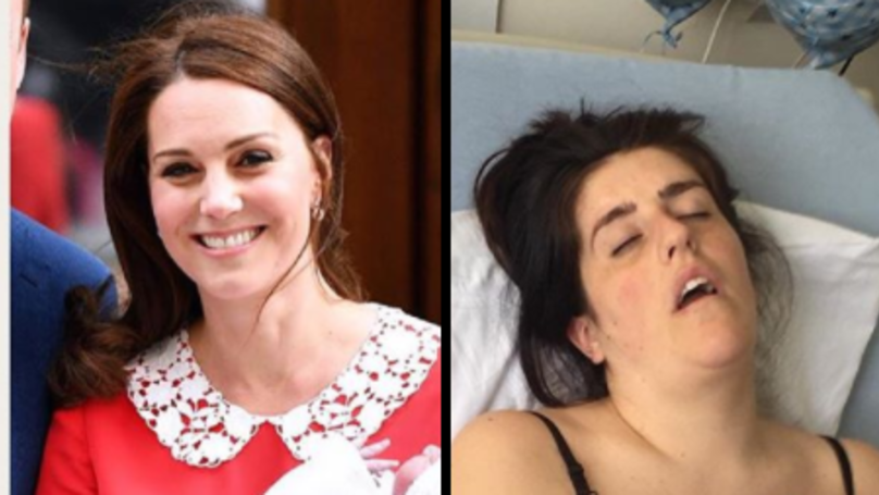 Woman Are Sharing Hilarious Comparison Photos Of Themselves Vs Kate After Giving Birth