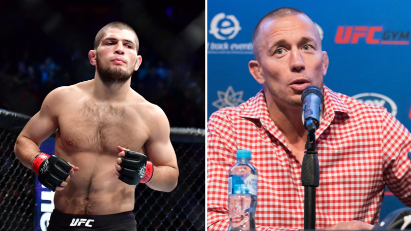 George St-Pierre Responds To Khabib Nurmagomedov's Plea To Fight