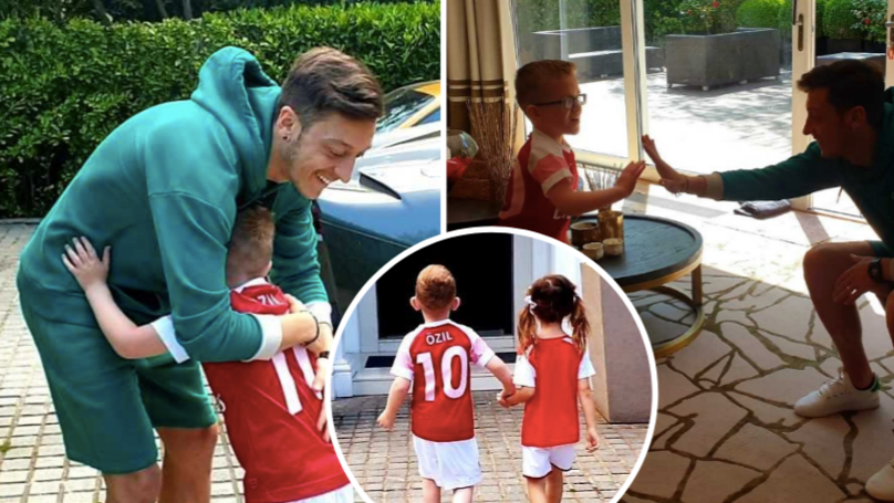 Mesut Ozil Surprises Seriously Ill Arsenal Fan By Inviting Him To His Home