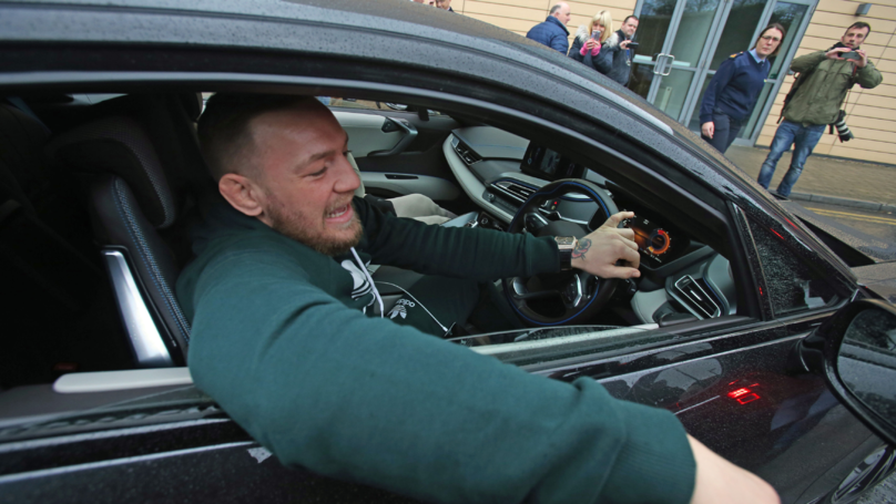 Fans Criticise Conor McGregor For Using His Phone While Driving...Again