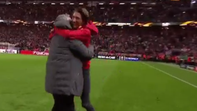 WATCH: Jose Mourinho Celebrates With Son After Europa League Triumph | SPORTbible