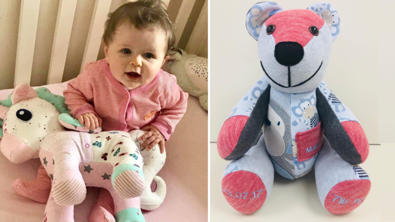 You Can Make A Memory Bear From Your Babies Old Clothes