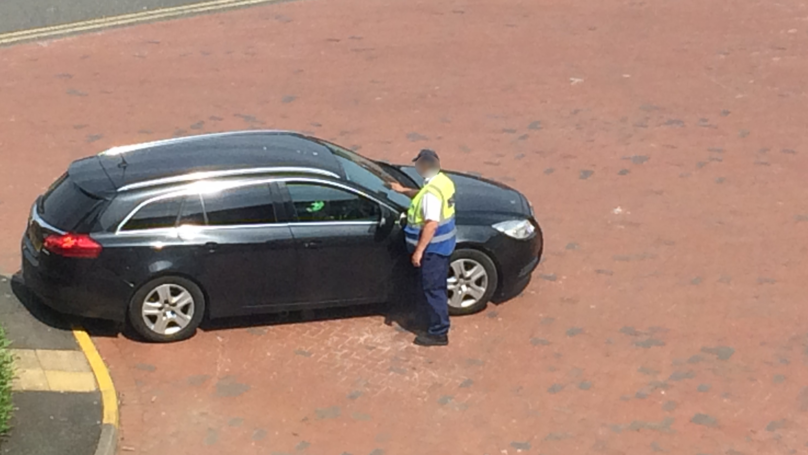 Parking Warden Tickets Funeral Car Whilst Driver Helps Load A Body