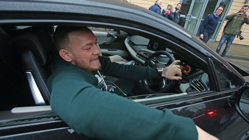 Conor McGregor Causes Outrage As He 'Films Himself Driving'