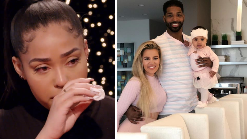 Jordyn Woods Says Tristan Thompson 'Kissed Her' As She Left House Party