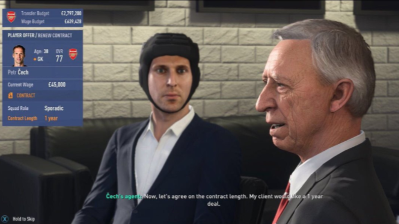 FIFA Player Spots Petr Cech's Hilarious FIFA 19 Contract Negotiation