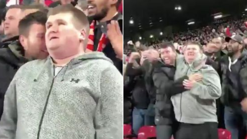 Liverpool Fan Describes Mohamed Salah Goal To Blind Supporter In Touching Moment
