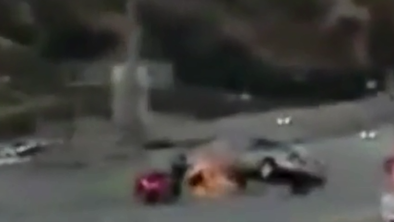 Biker Kicks Car In Road Rage Which Triggers A Huge Chain Of Events
