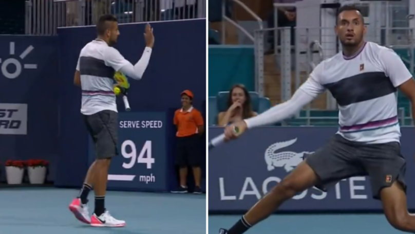Nick Kyrgios Went Fully Nick Kyrgios In Miami Open Win