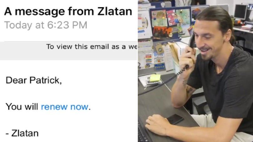 Zlatan Ibrahimovic Personally Calls LA Galaxy Fans To Tell Them To Renew Season Tickets
