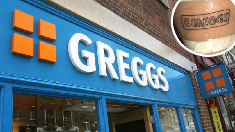 Woman Gets Greggs Tattoo And Asks For A 'Free Pasty'