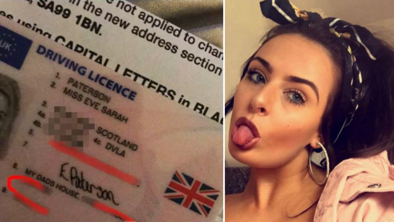Woman Accidentally Writes 'My Dad's House' For Her Driver's Licence Address