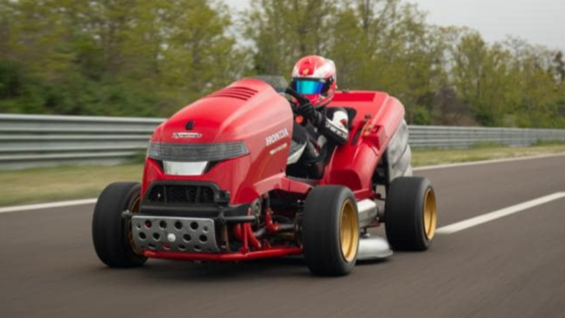 Lawnmower Sets Guinness World Record For Fastest Acceleration To 160km/h