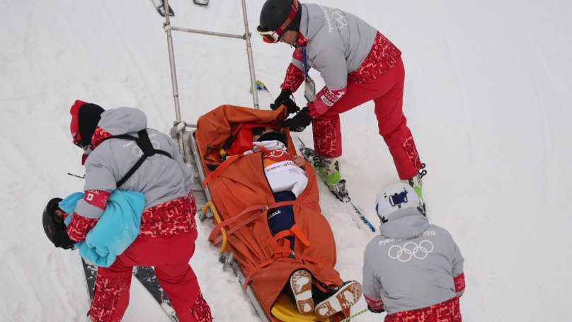 Snowboarder Suffers Horror Crash At Winter Olympic Games