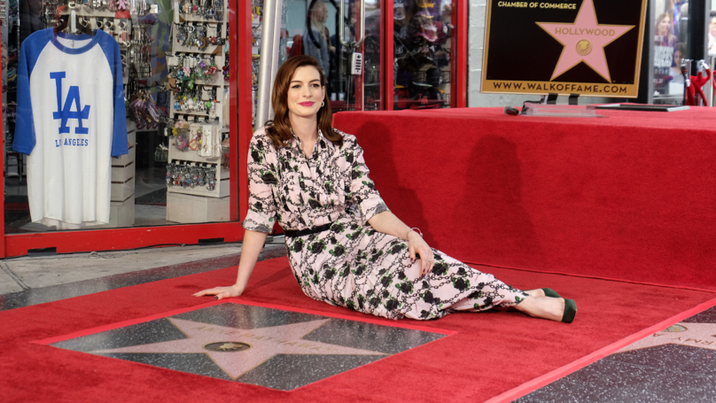 Anne Hathaway Honoured With Star On Hollywood Walk Of Fame