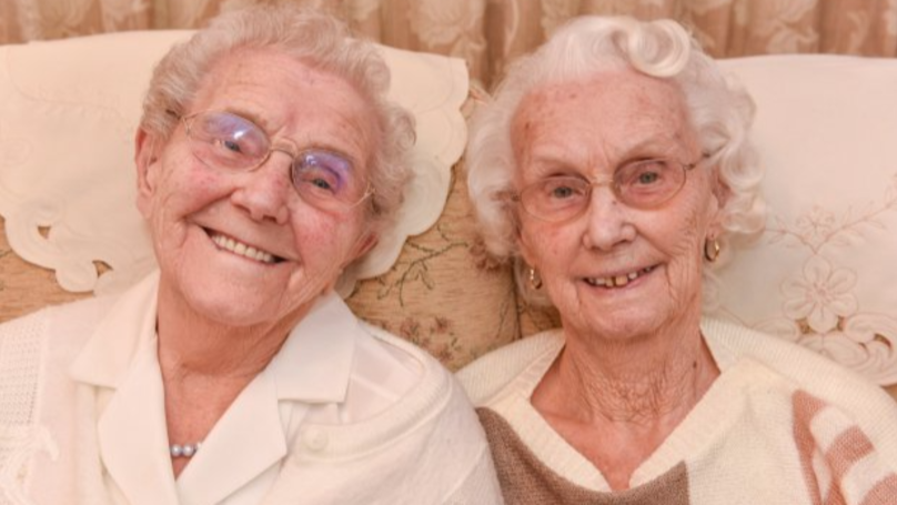 Two of Britain's Oldest Twins Celebrate Their 101st Birthday Together