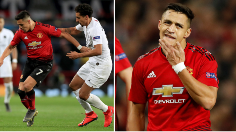 Alexis Sanchez Unhappy With His Manchester United Teammates For Collapsing Against PSG