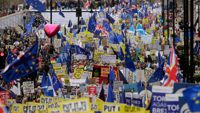 'One Million People' Estimated To Be At Anti-Brexit Protest In London