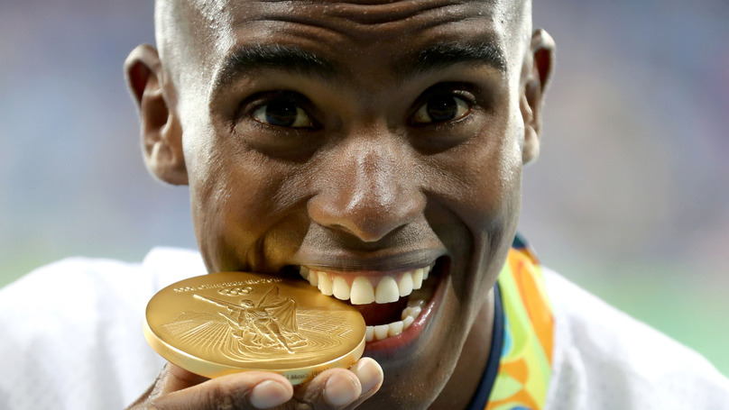 Mo Farah Wins A Gold For Great Britain In The Men's 10,000m