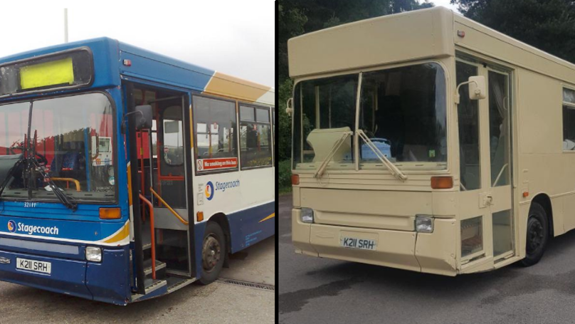This Clever Couple Converted An Old Bus Into An Amazing Motorhome