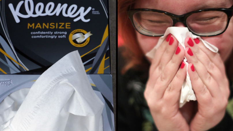 Kleenex Forced To Change Name Of 'Mansize' Facial Tissues After Sexism Complaints