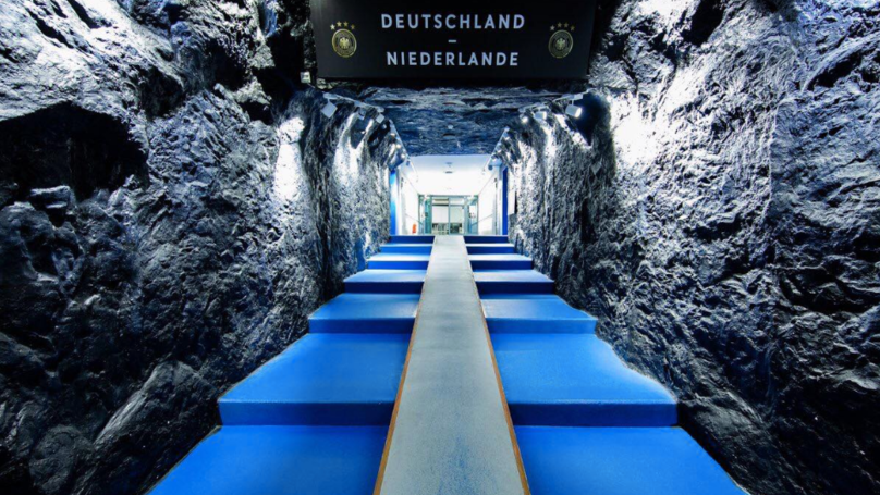 The Tunnel At The Veltins Arena For Germany vs. The Netherlands Is Actually Incredible