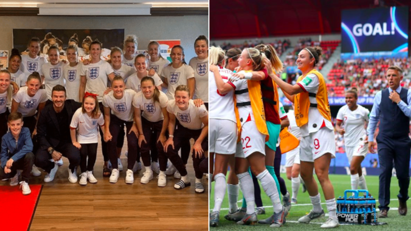 David Beckham Gave Lionesses Motivational Team-Talk Before Norway Thrashing