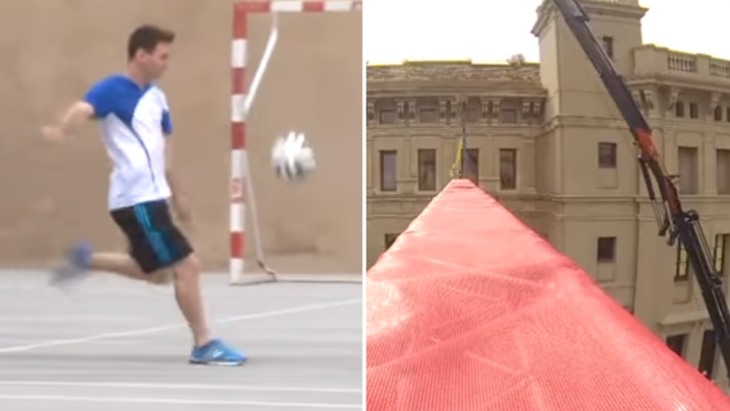 The Time Leo Messi Controlled The Ball From World Record Height With Ridiculous Ease