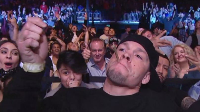 Nate Diaz Casually Sparks Up A Joint On Live TV