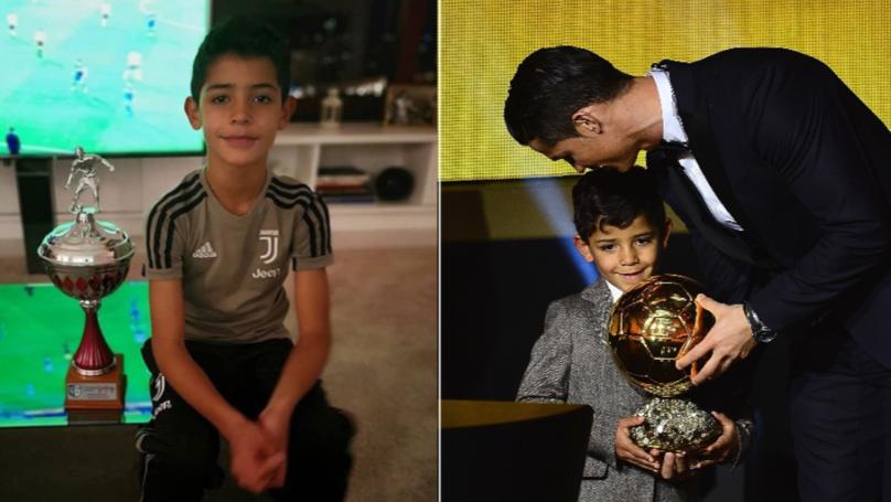 Cristiano Ronaldo's Son Is Already Winning Trophies Like His Dad