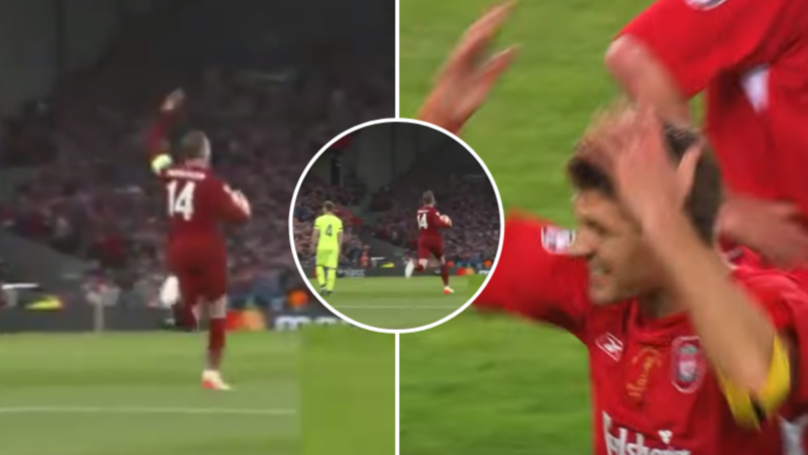 Jordan Henderson Did His Best Steven Gerrard Istanbul Impression At 3-1 Against Barcelona